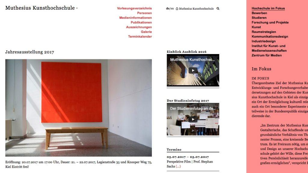 Muthesius Kunsthochschule Kiel