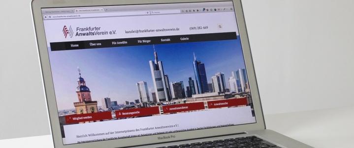 Frankfurter Anwaltsverein - neue Webseite