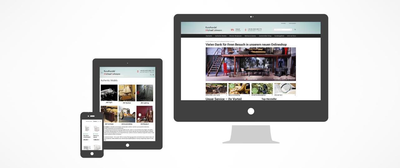 Kunsthandel Lohmann - Responsive Online-Shop mit Magento 2.0