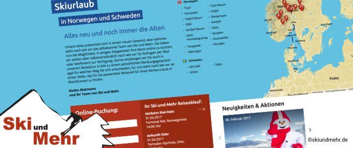 Buchungsportal für Skireisen nach Skandinavien