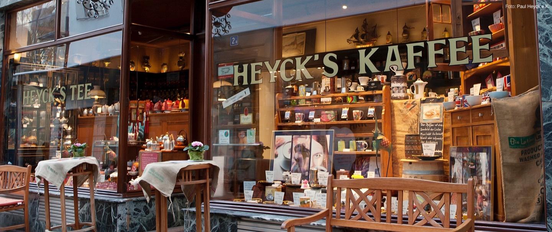 Schaufenster von Heycks Kaffee
