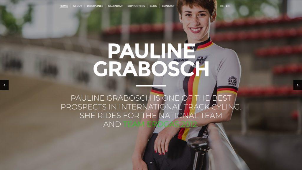 Pauline Grabosch, Radsportlerin - WordPress Microsite