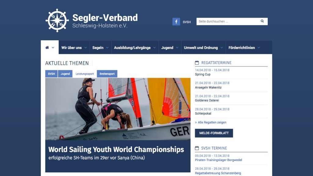 Seglerverband Schleswig-Holstein - WordPress