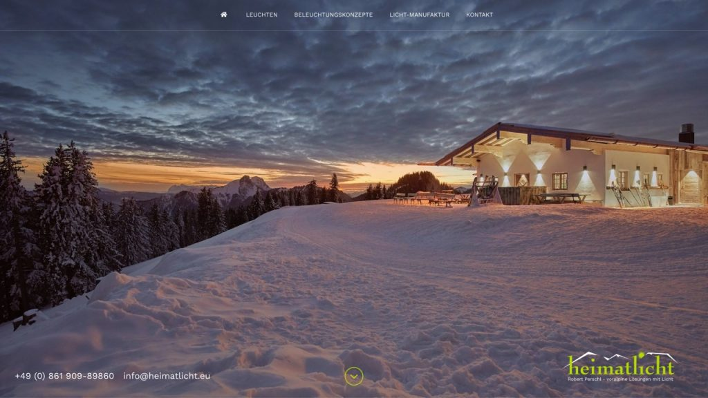 Heimatlicht – Microsite in WordPress