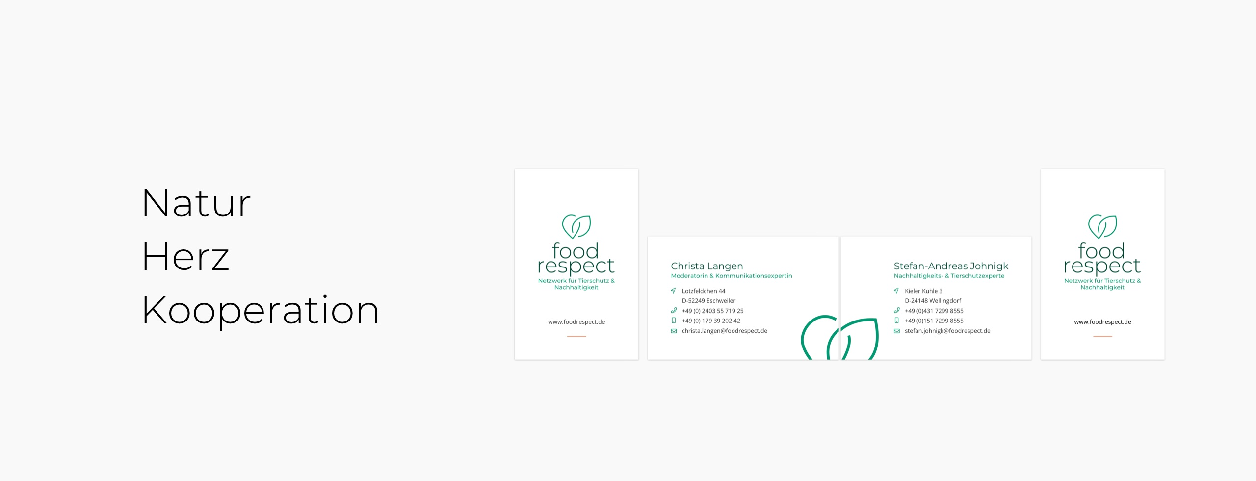 Visitenkarten für foodrespect