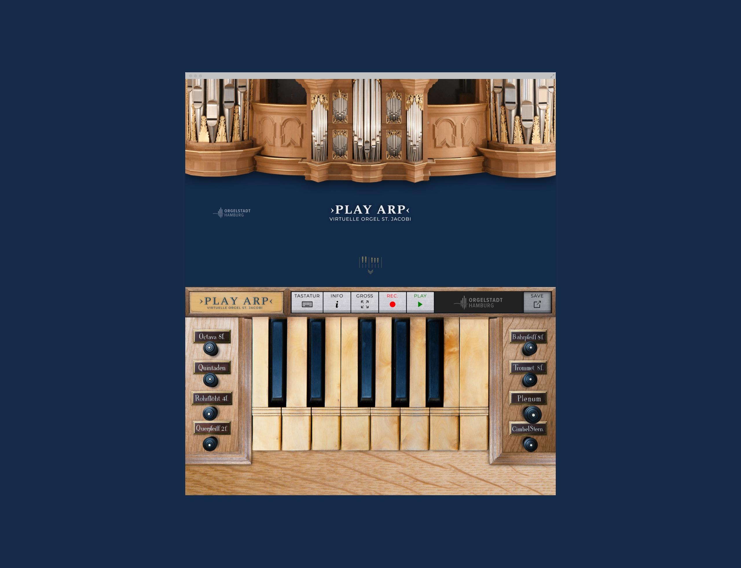 Virtuelle Orgel auf Webseite der Orgelstadt-Hamburg