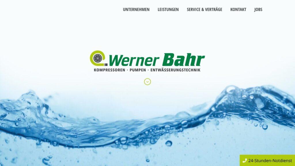 Kopfbereich der Webseite von Werner Bahr Kiel