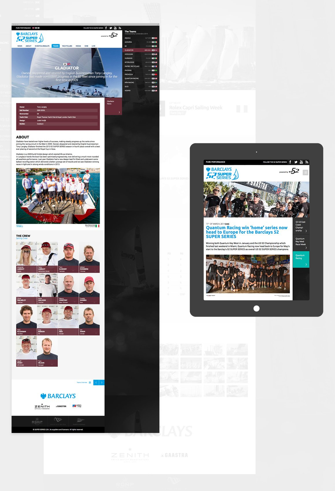 52 SUPER SERIES - Vergleich Desktop/Tablet