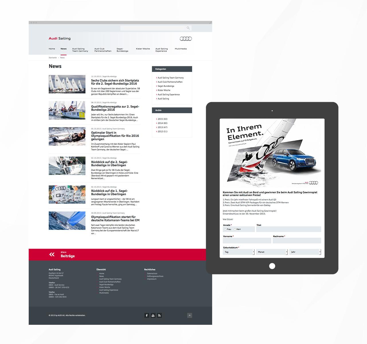 Audi Sailing - News | Gewinnspiel