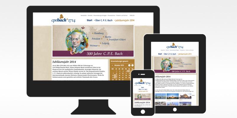 CPE Bach Jubiläums-Webseite von vektorrausch aus Kiel