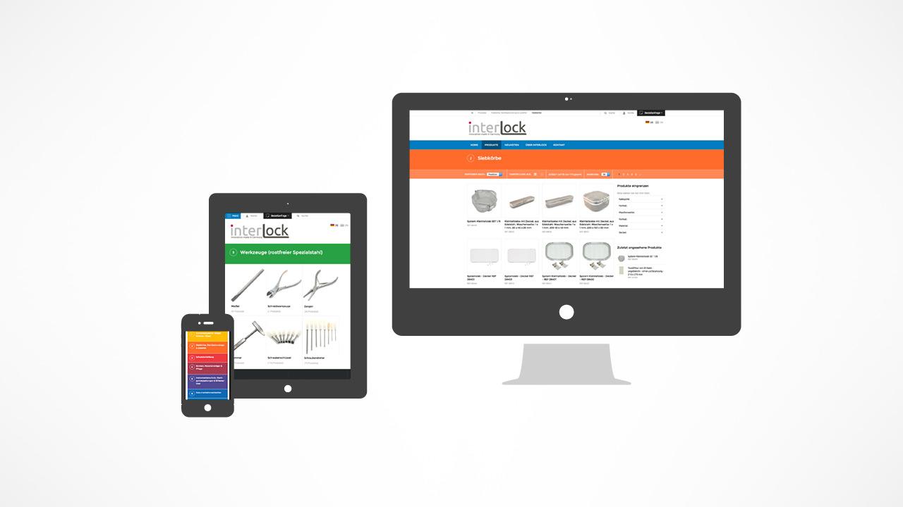 Magento Onlineshop für Interlock Medizintechnik