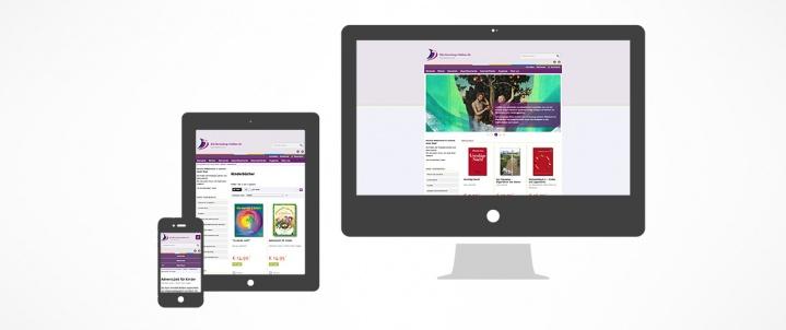 Kirchenshop Online im responsive Design