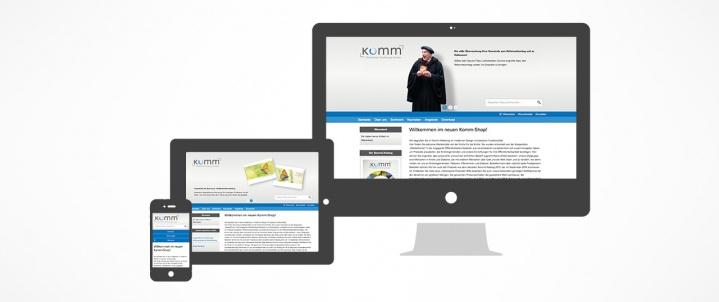 Komm Onlineshop – Werbemittel. Rundum gut beraten.
