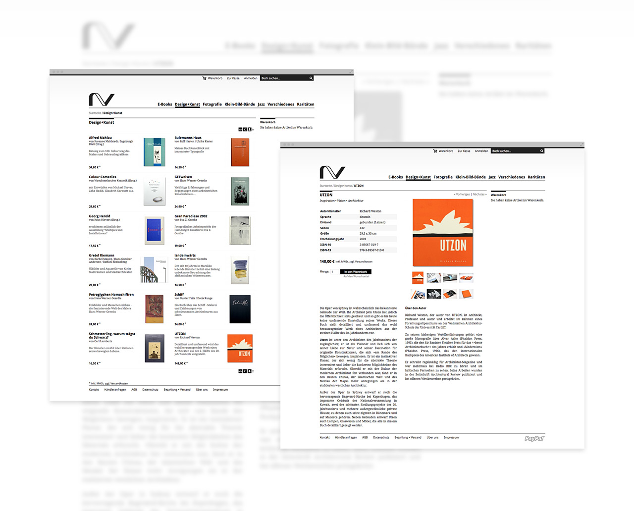 Nieswand Verlag – Liebe für Typografie trifft monochrome Optik und lässt so die Bücher in den Vordergrund treten