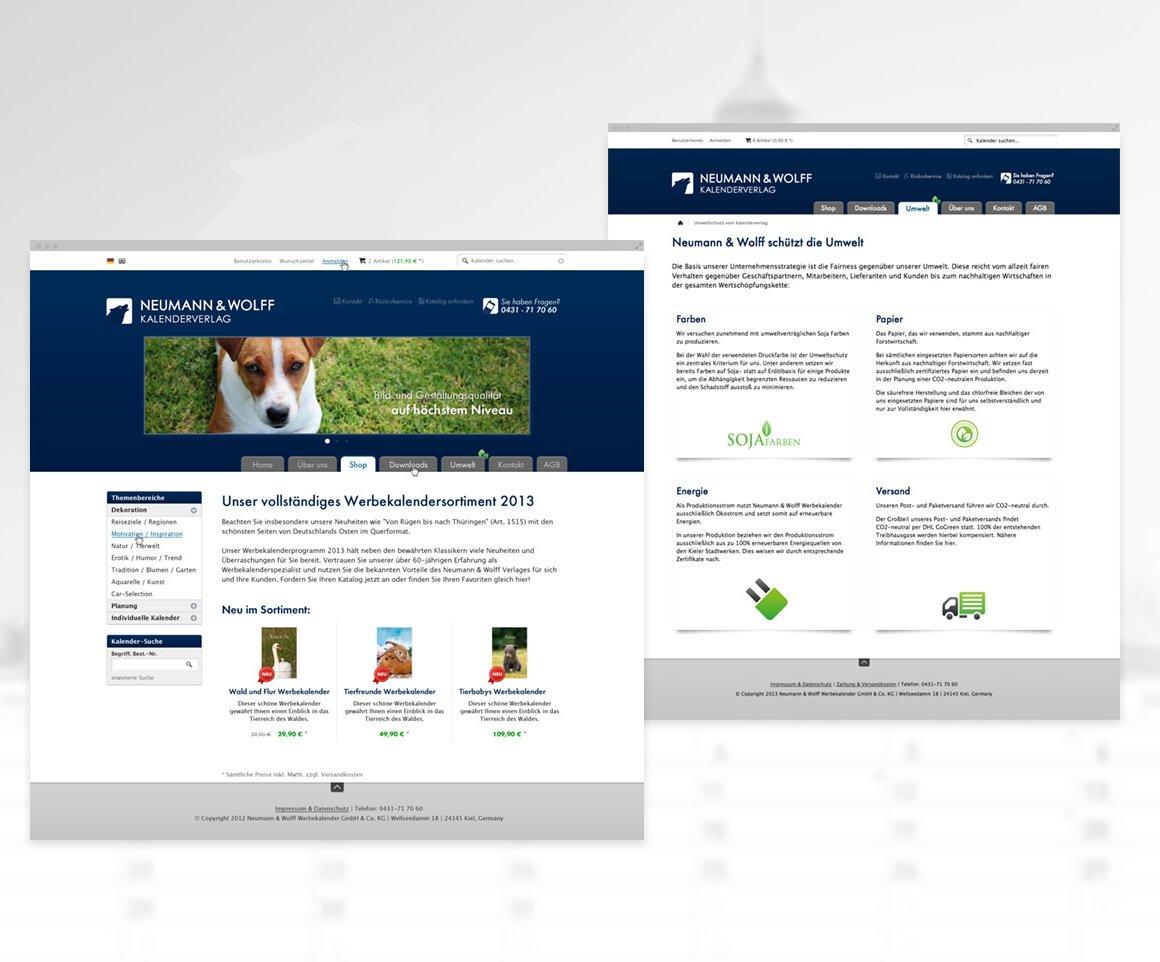 Neumann Wolff – Onlineshop für Kalenderverlag