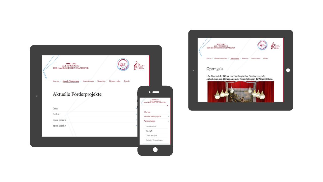 Opernstiftung Hamburg - reduziert, typografisch, Weißraum