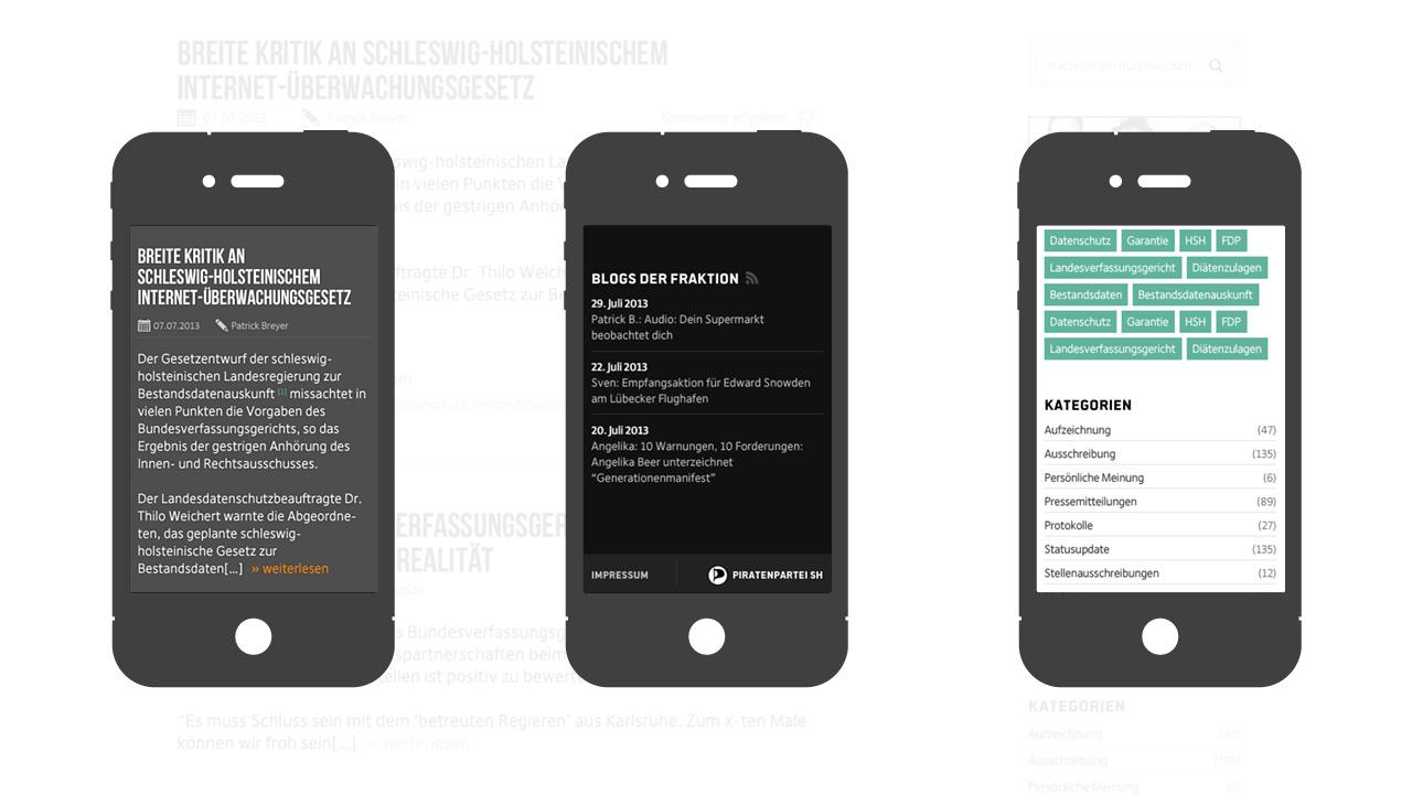 Piratenfraktion Schleswig Holstein – auch am Smartphone alles rund um die Fraktionsarbeit der Piraten erfahren