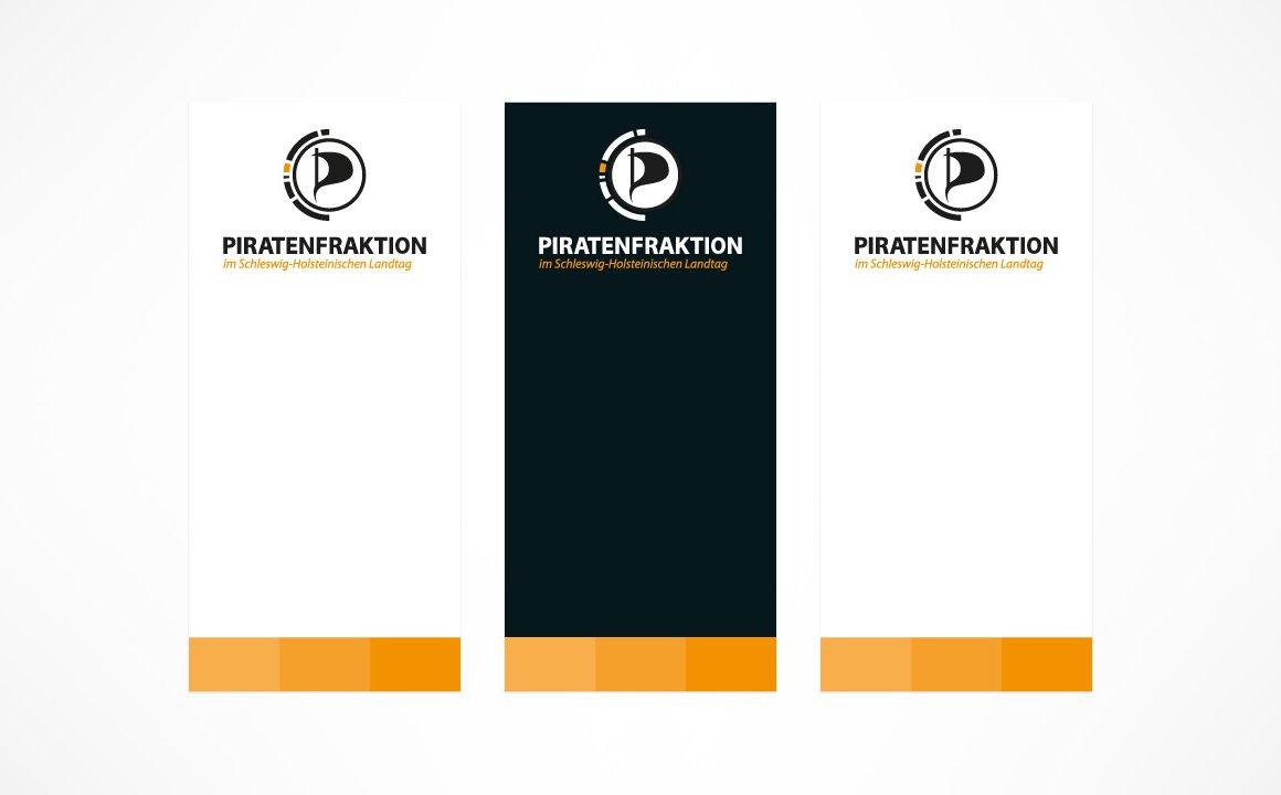 Piratenfraktion Schleswig-Holstein – Gestaltung von Roll-Ups