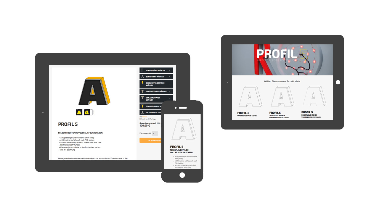 Profil 5 – Onlinekonfigurator