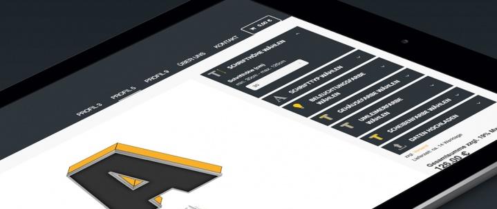 PROFIL 5 - Onlinekonfigurator für Lichtwerbung