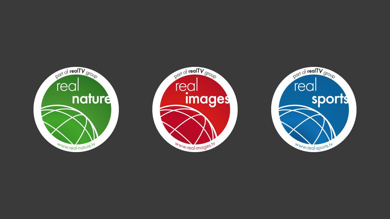 realTV group – Badges der Hauptbereiche