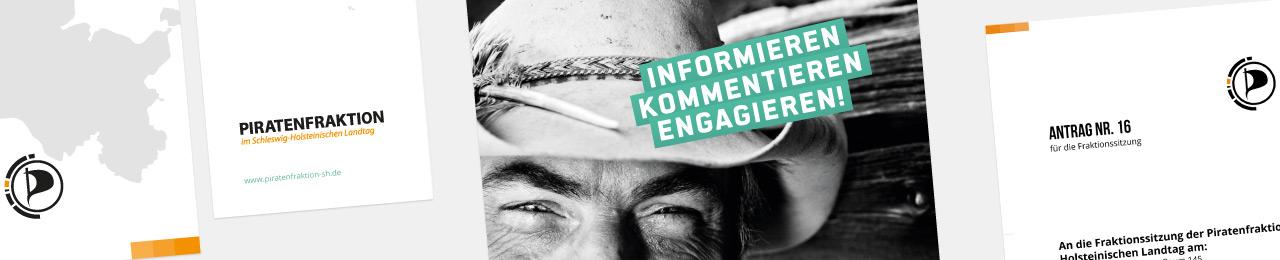 Webseite und Geschäftsausstattung für die Piratenfraktion Schleswig-Holstein