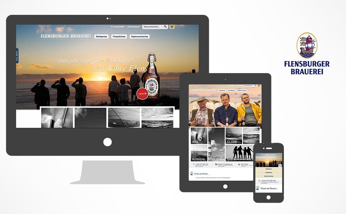 Flensburger Brauerei - Responsive Onlineshop